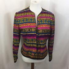 Vintage Adrianna Papell Silk Multicolored Blazer 100% Silk