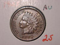 1905 INDIAN HEAD CENT AU BETTER DATE COIN NICE COMBINED SHIPPING