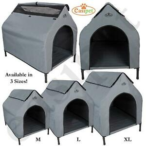 Elevated Fabric Dog Kennel Bed Pet Camping Waterproof Portable Animal Shelter
