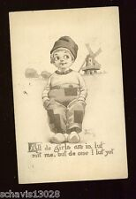 All the girls are in Luf wit me Dutch 1912 Wall Schlesinger Bros Postcard 644