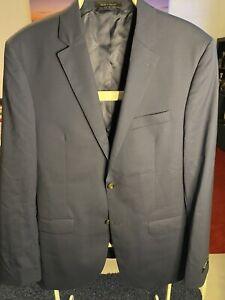 NWT- Lauren -Ralph Lauren Mens Slim Blazer Blue Size 42 L Two Button Wool $450