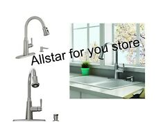 American Standard Stainless Steel 1-Handle Deck Mount Pull-Down Kitchen Faucet