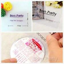 BORN PRETTY 2Pcs Clear Nail Stamping Plate Nail Art  Stamp Scrapers Kit