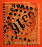 FRANCE EMISSION SIEGE DE PARIS N° 38 (TB- 1164-1)AVEC OBLIT Losange GC 6316