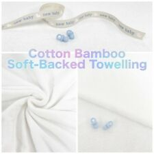 Plain Soft-Backed Bamboo Cotton Mix Super Soft Double Sided Towelling Fabric