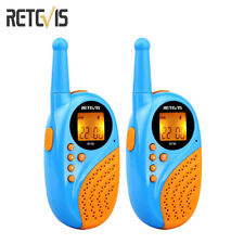 Kids Walkie Talkie Retevis RT-35 UHF 22CH VOX CTCSS/DCS LED Clock Alarm Radio///