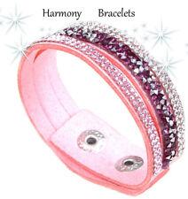 Baby Pink Swarovski Elements Single Glamour Bracelet by Harmony Bracelets