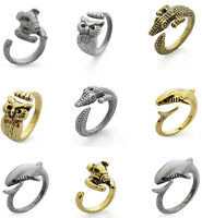 New Vintage Antique Bulldog Statement Wrap Animal Ring Band Rings Jewelry Gift