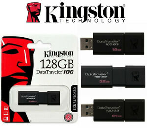 USB Flash Drive 3.0 Kingston Data Traveler Memory Stick 32GB 64GB 16G 128G 256G