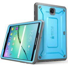 Samsung Galaxy Tab S2 9.7 Case Built-in Screen Protector Bumper Flexible Blue