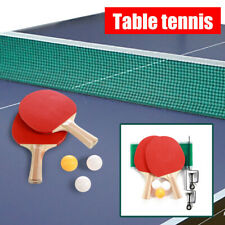 Table Tennis Complete Set 2 Paddle Bats 3 Ping Pong Balls Net Family Game Indoor