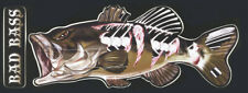 Bad Bass Profile Decal Bumper Sticker Gifts Men Fishermen Fish Fishing