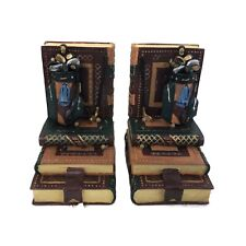 Golf Club Book Ends Golf Bag Clubs Heavy Weight Resin Book Ends