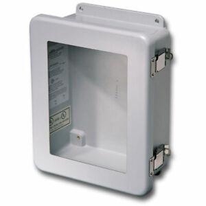 Stahlin Electrical Fiberglass EnclosureWindow JW1008HPL 10x8x4 FG HPL And Panel