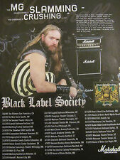Zakk Wylde, Black Label Society, Marshall Amplifiers, Full Page Promotional Ad