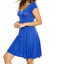 BNWT Ladies Blue Jersey Skater Dress V by VERY - sz 14