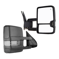 New Passenger/Right Power Heated Smoke LED Tow Mirror for Chevy/GMC Truck 14-17