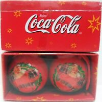 Coca-Cola 2 DECORAZIONI per ALBERO di NATALE-Palle di Natale