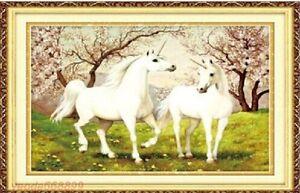 "NEW Cross Stitch Kits"" The unicorn in love """