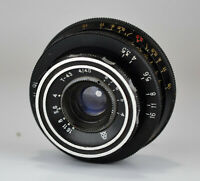 HAND MADE M42 mount RUSSIAN USSR BLACK LOMO T-43 f4/40 LENS from SMENA-6 (3)