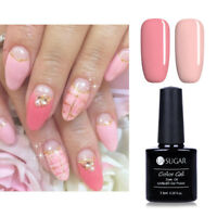 2X Pink Nail Gel Polish Pure Color UV/LED Soak Off Gel Varnish Design 7.5ml
