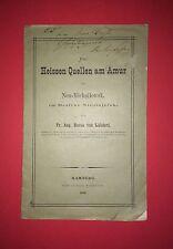 Reise Bericht von Baron Lühdorf 1882 Die Heissen Quellen am Amur   RAR ( F12936