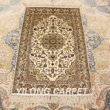 YILONG 2.5'x4' Small Classic Handknotted Silk Carpets Home Decor Rug LH942B