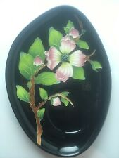 Blue Sky Clayworks Dogwood Flower Tree Serving Tray By J. Mccall Vintage 2005