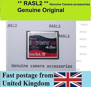 4GB SanDisk Extreme IV CF Compact Flash Memory Card Digital Camera Canon Nikon