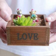 Wooden Succulent Planter Flower Plant Bonsai Pot Garden Herb Trough Box Basket