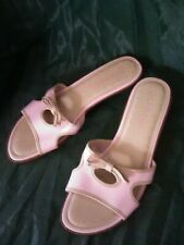 George*Pink Leather Open Toe Sandals Sz 7