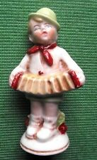 c1900 Porcelain Accordian Boy Foreign (German) 21671   Victorian China Fairing