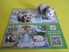 Kinder Ferrero DC022 Panda (Tierkinder) + BPZ - 3 Figures on the BPZ