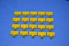 LEGO 20 x Plättchen 1x2 mit Haken gelb | yellow plate special w. hook 4623