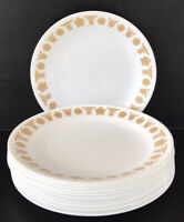 """Vintage Corelle Butterfly Gold Lunch Plates 8 1/2"""" Set Of 13"""