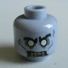 LEGO - Minifig, Head - Angry, White Eyes & Yellowed Teeth One Missing - (Zombie)