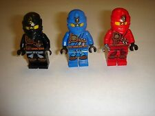3 Lego Ninjago jay ,cole & kai Minifigures New 2015 ZUKIN lot