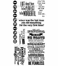 Tim Holtz Rubber Stamps - Inspirational Sayings, Live, Individual Quotes
