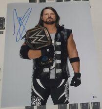 Aj Styles Signed 16x20 Photo Bas Beckett Coa Wwe Title Belt Picture Autograph 3