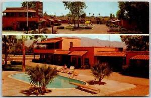 Tucson, Arizona Postcard CANYON STATE MOTOR LODGE Pool View / 1963 Cancel