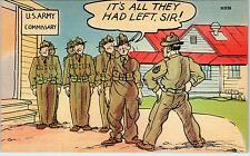 "COMIC MILITARY WW2 Linen  Postcard ""It's all they had left, Sir!"""