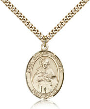 "Saint Gabriel Possenti Medal For Men - Gold Filled Necklace On 24"" Chain - 30..."
