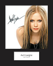 AVRIL LAVIGNE Signed Photo Print 10x8 Mounted Photo Print