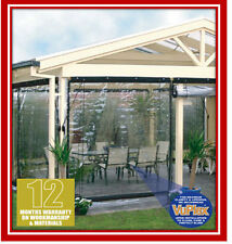NEW! 180 x 240 Clear Bistro Cafe Blind PVC Patio Backyard Outdoor Verandah Cover
