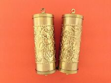 Fancy Embossed Vienna Weight Shells set of 2 Made of Brass