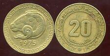 ALGERIE ALGERIA 20 centimes 1975   ANM  ( bis )