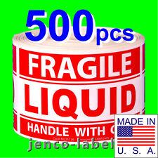ML35126, 500 3x5 Fragile Liquid Handle With Care
