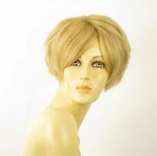 perruque femme 100% cheveux naturel courte blonde ref AMANDINE 22