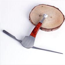 Nettapipe in acciaio e legno rosso per pulizia della pipa curapipe di lusso