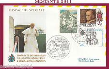 W525 VATICANO FDC ROMA GIOVANNI PAOLO II WOJITYLA VISITA  BANGLADESH DHAKA 1986